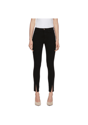 Frame Black Le High Skinny Slit Jeans