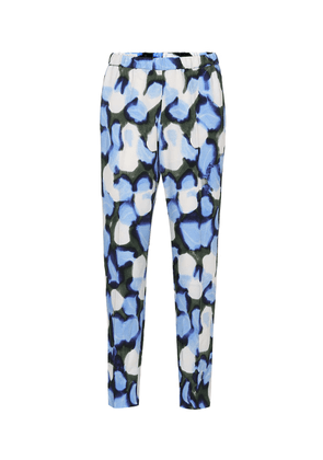 Printed high-rise straight pants