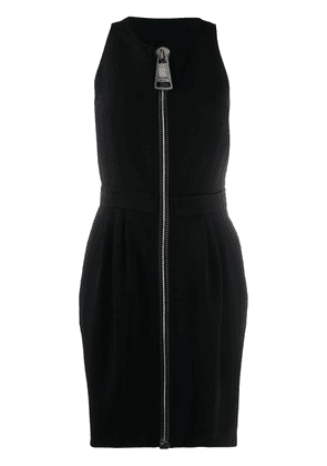 Moschino oversized zipper mini dress - Black