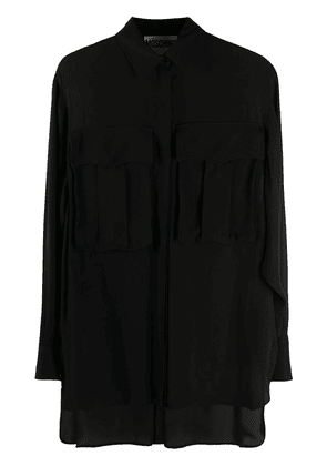 Moschino oversized pocket loose shirt - Black