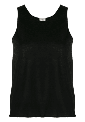 Saint Laurent round-neck knitted top - Black