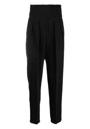 IRO high-waisted tapered trousers - Black