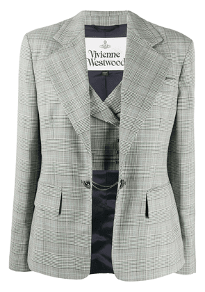 Vivienne Westwood fitted check blazer - White