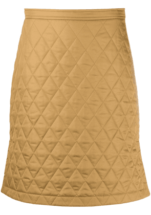 Burberry quilted A-line skirt - Neutrals