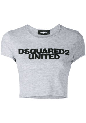 Dsquared2 logo print cropped T-shirt - Grey