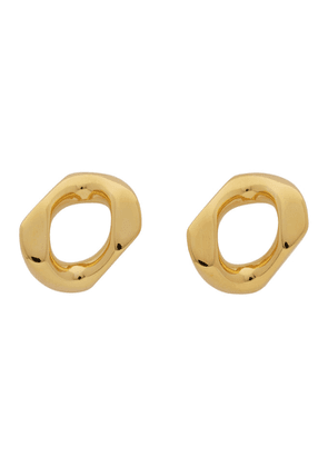 Burberry Gold Small Chain Link Earrings