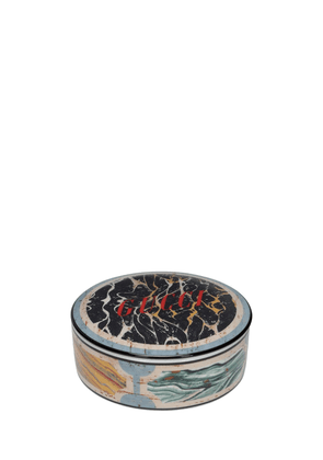 Hand Painted Marble Effect Round Box