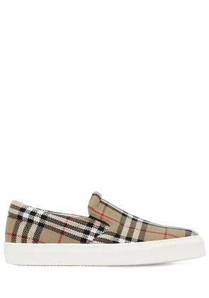 Thompson Check Canvas Slip-on Loafers