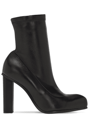 105mm Peak Leather Ankle Boots