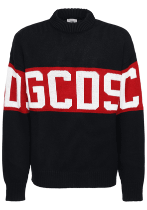 Logo Wool Blend Knit Sweater