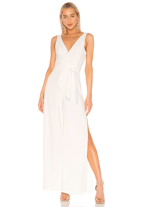 Lovers + Friends Halo Jumpsuit in White. Size L,XS.