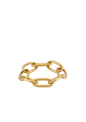 CAM Oval Link Ring in Metallic Gold. Size .