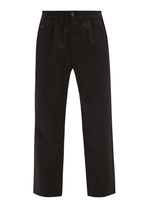 Gucci - Logo-jacquard Waistband Cotton-twill Trousers - Mens - Black