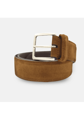 Andersons Leather Belt - Mid Brown Suede