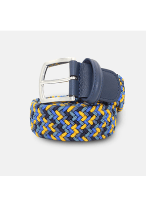 Andersons Woven Textile Belt - Blues & Yellow