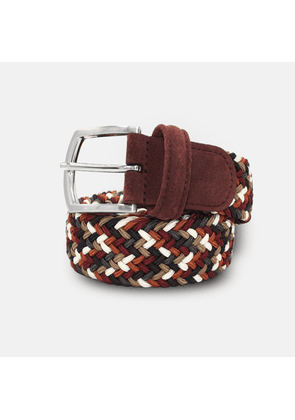 Andersons Woven Textile Belt - Browns & Cream