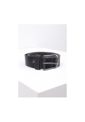 Eagle Agencies Grooved Leather Belt Colour: Black