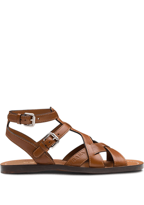 Prada flat gladiator sandals - Brown