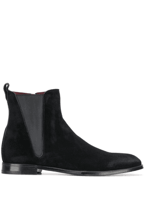 Dolce & Gabbana zip-up suede ankle boots - Black