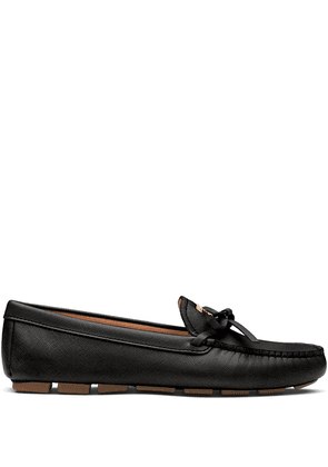 Prada bow detail loafers - Black