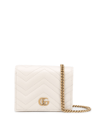 Gucci GG Marmont crossbody wallet - White