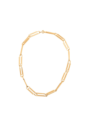 Off-White multi paperclip short necklace - GOLD