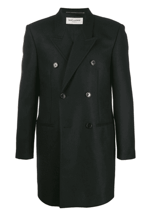 Saint Laurent double-breasted tailored coat - Black