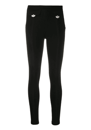 Versace Jeans Couture high-waisted skinny trousers - Black