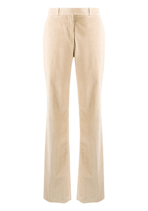 Etro ribbed bootcut trousers - Neutrals