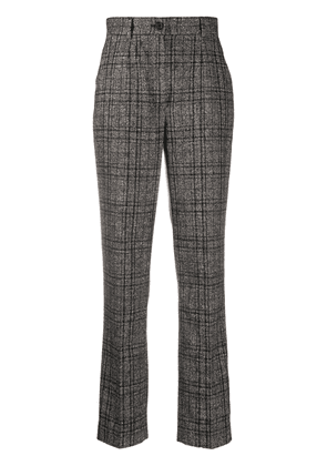 Dolce & Gabbana tweed check tailored trousers - Brown