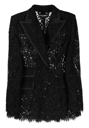 Dolce & Gabbana lace double-breasted blazer - Black