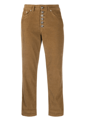 Dondup corduroy cropped trousers - Brown