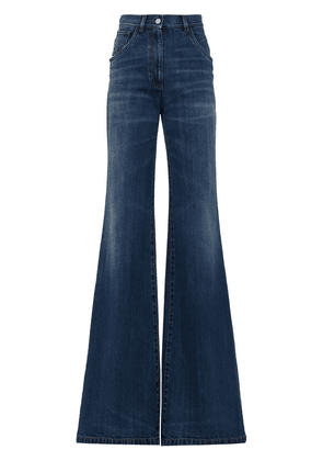 Prada flared high-rise jeans - Blue