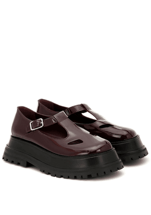 Aldwych patent leather platform loafers