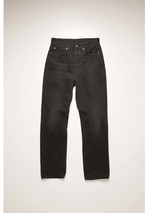 Acne Studios Mece Washed Out Black Rigid Washed Black Cropped straight fit jeans