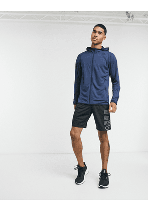 adidas FreeLift hoodie in legend ink melange-Navy