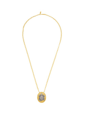 Begum Khan - Alexandra 24kt-gold-plated Turtle-pendant Necklace - Womens - Gold Multi