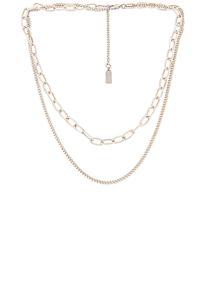 CAM Axis 2.0 Necklace in Metallic Silver.
