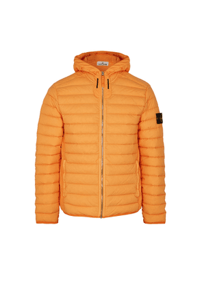 Stone Island Loom Woven Orange Quilted Shell Jacket