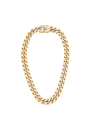 FALLON Enamel Gold-plated Chain Necklace