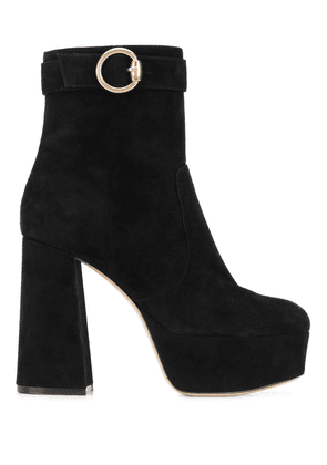 Gianvito Rossi buckled chunky-heel ankle boots - Black
