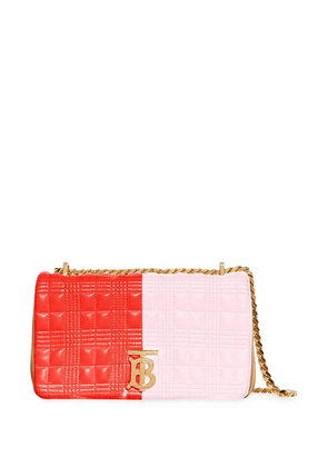 Burberry small quilted tri-tone Lola bag - Red