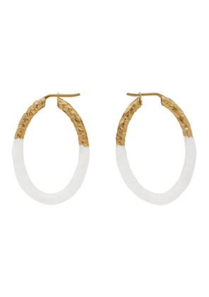 Burberry Gold Enamel Hoop Earrings