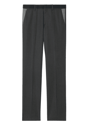 Burberry classic fit panelled tailored trousers - Grey