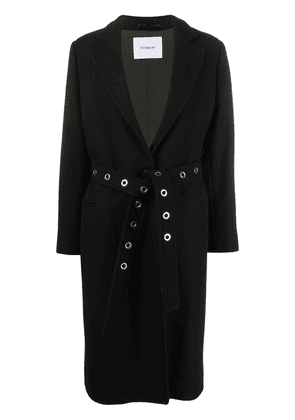 Dondup belted mid-length coat - Black