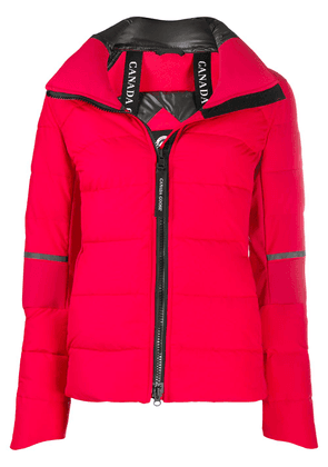 Canada Goose long-sleeved zipped up jacket - Red