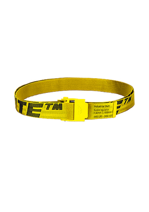 OFF-WHITE 2.0 Industrial Belt in Yellow & Black - Yellow. Size all.