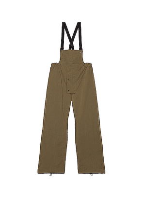 Sasquatchfabrix Overalls in Olive - Green. Size S (also in L,M).