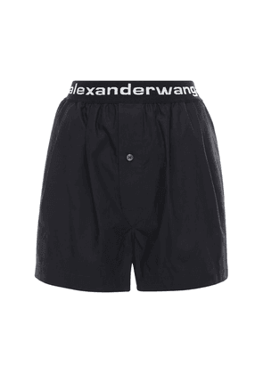 Logo Cotton Poplin Shorts