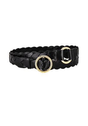 FRAME Braided O Ring Double Wrap Belt in Black. Size S,M.